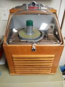 Vintage 1950and039s Ristaucrat Coin Operated Table Top Jukebox 45 Record Player Rare