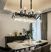 American Style Lighting Luxury Led Crystal Dining Room Bar Table Chandelier Lamp
