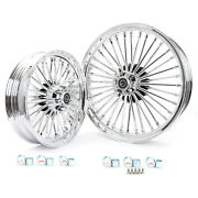 21 3.5 Front 16 3.5 Rear Fat Spoke Wheels For Harley Touring Dyna Softail