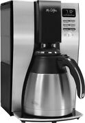 Mr. Coffee - 10-cup Coffee Maker With Thermal Carafe - Stainless-steel/black