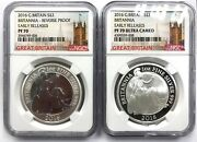 2016 Britannia Silver Reverse Proof 2-coin Set 1oz Ngc Pf70 Er Early Release