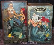Disney Designer Fairytale Folktale Doll Collection Ariel And King Triton New
