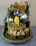 Snow White And Seven Dwarves Large Musical Snowglobe Disney Store