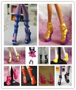 Random Boots For Monster High Doll Accessories Dolls Clothes 5 Pairs Shoes Lot