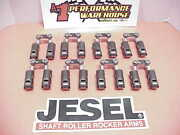 16 Jesel Coated Tie Bar .874 Double Offset Solid Roller Lifters Sb Chevy Jl5
