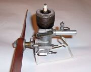 Ohlsson And Rice .60 Sideport Champion Glow Plug And Vintage Prop Modelplane Engine