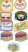 Lot Of Nine 1950s-80s Minnesota New Ulm August Schell Beer Labels Tavern Trove