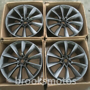22 T-style Gray Staggered Wheels Rims Fits Tesla Model X 22x9 22x10