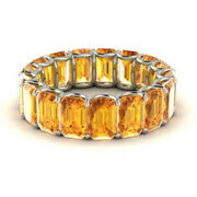 Special Sale Real 14k White Gold 3.4 Ct Natural Diamond Citrine Gemstone Rings