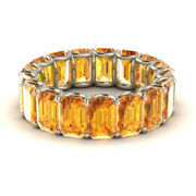 Special Sale Real 14k White Gold 3.4 Ct Natural Diamond Citrine Gemstone Ring