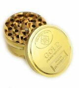 2 Inch 4 Piece Gold Tobacco Herb Crusher Grinder Us Seller Free Shipping