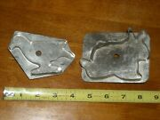 Old Antique Americana Tin And Solder Bunny Rabbit And Bird Cookie Cutters