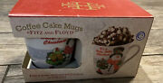 New Fitz And Floyd Coffee Cake Mugs Two- Hollie Berry Snowman Holiday Christmas