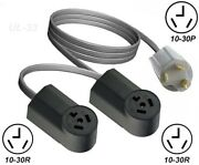 Dryer Y Adapter 10-30p Plug To Dual 10-30r Receptacle 3pin Power Cord T Splitter