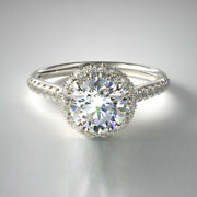 0.95 Ct Real Round Cut Diamond Wedding Ring Solid 950 Platinum Band Size 5 6 7 8