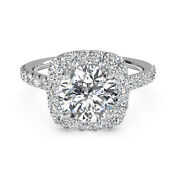 Round Cut 1 Carat Real Diamond Engagement Ring Solid 950 Platinum Band Size 7 8