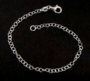 Wholesale Lots Bracelets / Anklets 925 Sterling Silver 3x4mm Oval Cable Chain