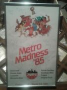 1985 Metro Conference Tournament Poster Team X20 Signed Louisville Basketball