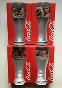 Old Vintage Rare Coca-cola Set 4 Pc Glass 2016 New With Box Promo Not For Sale