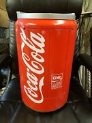 Vintage Large Coca-cola Soda Can Electric Radio Cassette Cd Player Collectible