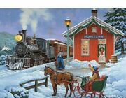 Full Square Round Drill 5d Diy Diamond Painting Christmas Train Home 3d Decors