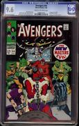 Avengers 54 Cgc 9.6 Crm/ow Marvel 1968 1st New Masters Of Evil
