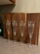 4 Royal Doulton Crystal Clear Champagne Glasses