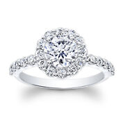 Real 1.20 Ct Diamond Engagement Womens Ring 18k Solid White Gold Band Size 5 6 8