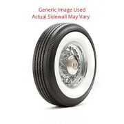 750r16 Deluxe Auburn Tire With 4 White Wall - Modified Sidewall 1 Tire