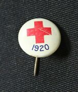 Vintage 1920 Red Cross Pin Jan 1917 Jl Lynch Chicago Illinois 1/2 White Red