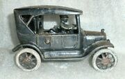 Old Cast Iron Model T Ford Toy Car