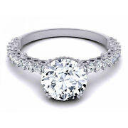 0.80 Ct Real Diamond Engagement Band Solid 14k White Gold Womens Ring Size 6 7 8