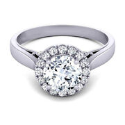 1.00 Ct Real Diamond Engagement Ring Solid 14k White Gold Womens Band Size 5 6 7