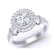 0.80 Ct Real Diamond Engagement Ring Solid 14k White Gold Womens Band Size 5 7 8