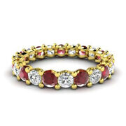 Solid 14k Yellow Gold 2.03 Ct Natural Diamond Ruby Gemstone Rings Size 6 7 8 9