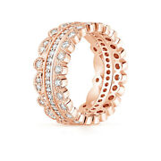 Real 1.00 Ct Diamond Engagement Ring Solid 14k Rose Gold Eternity Band 5 7 8 9
