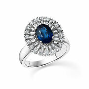 Natural Gemstone Rings 2.13 Ct Diamond Band Solid 14k White Gold Size 5 6 7 8