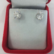Real 1.00 Ct Diamond Solitaire Stud Earring Solid 950 Platinum Womens Studs