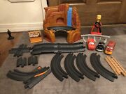 Huge Lot Disney Cars Geotrax Race Car Sets, Remote Controls. Fisher Price