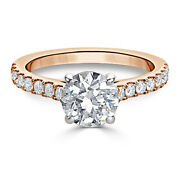 0.88 Ct Real Diamond Wedding Band 14k Solid Rose Gold Engagement Ring8 7 6 5