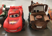 Disney Infinity Cars Set. Lightning Mcqueen Mater Collectible Loose Figures.