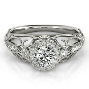 1.00 Ct Real Diamond Engagement Womenand039s Ring Solid 950 Platinum Band Size 5 6 7