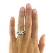 14k Solid White Gold Band 1.60 Ct Real Diamond Wedding Ring Size 8 7 6