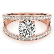 0.80 Ct Real Diamond Engagement Rings 14k Solid Rose Gold Round Cut Size 6 5 7 8