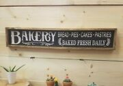 Bakery Rustic Carved Wood Sign, Farmhouse Signs, Kitchen Décor, Farmers Market,