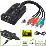 1080p Hdmi To Component Video Ypbpr Rca Converter Adapter Cable R/l Audio Output