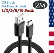 【lot】 6ft Fast Charger Usb-c Type C Charging Cable For Samsung Galaxy S10 S9 S8
