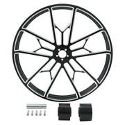 18/21/23/26/30and039and039 Front Wheel Rim W/ Hub Dual Disc For Harley Road King 2008-2020
