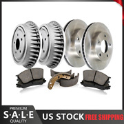 6x Frontrear Brake Rotors Drumsmetallic Pads Shoes Centric Fits Outlander_sk