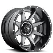 4 20x10 Fuel Wheels D238 Rampage Grey Center W Black Lip 2pcs Off Road B42